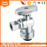 Water Supply Line Angle Stop Valve, 1/2