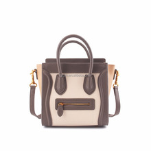 Guangzhou High Quality PU Leather Smiling Face Handbag Women Bags