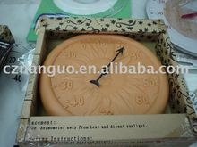 terracotta with thermometer outdoor