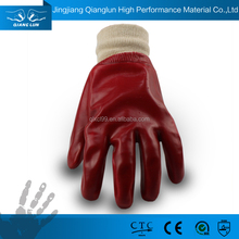 Multicolored PVC coated chemical resistant work gloves uk