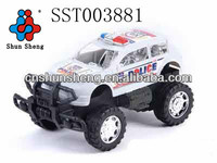 Promotional Friction Toy Car Plastic Frictional Police Toy Car