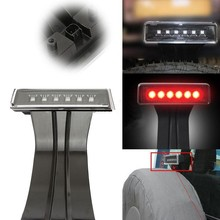 15W Clear 6 LED Rear Tail 3rd Brake Light Third Brake Lamp Fit For J-eep Wrangler JK Sport Altitude Unlimited