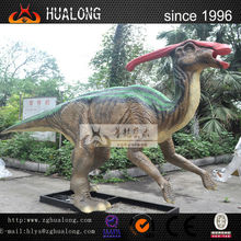 Realistic Life-Size Robotic Prehistory Dinosaur Statue and Life-Size Fiberglass Dinosaur