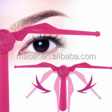 New product DIY permanent makeup tools eyebrow stencils, plastic eyebrow shaping ruler, hot professional eyebrow shaper
