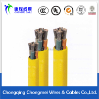 Metal shield rubber sheathed flexible cable for coal mining machine MCPT-1.9/3.3