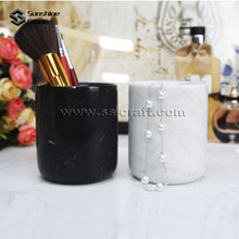 Fancy Marble Pen Holder For Office Desk Stone Pen Container