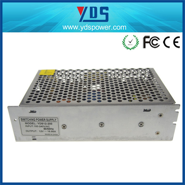 200w led driver supply / 16.66A LED Street light switching power supply / 12V 115v 400hz power supply