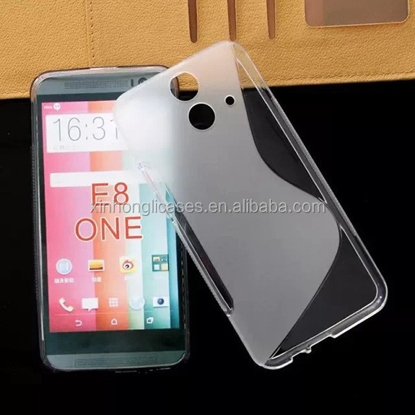 S-line soft tpu case for htc one e8, blank tpu case for htc one e8