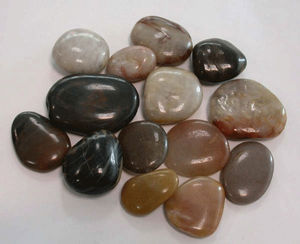 high polished pebble stone cobbles from factory