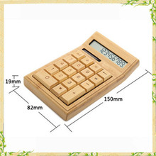 High quality eco-friendly promotional wooden calculator