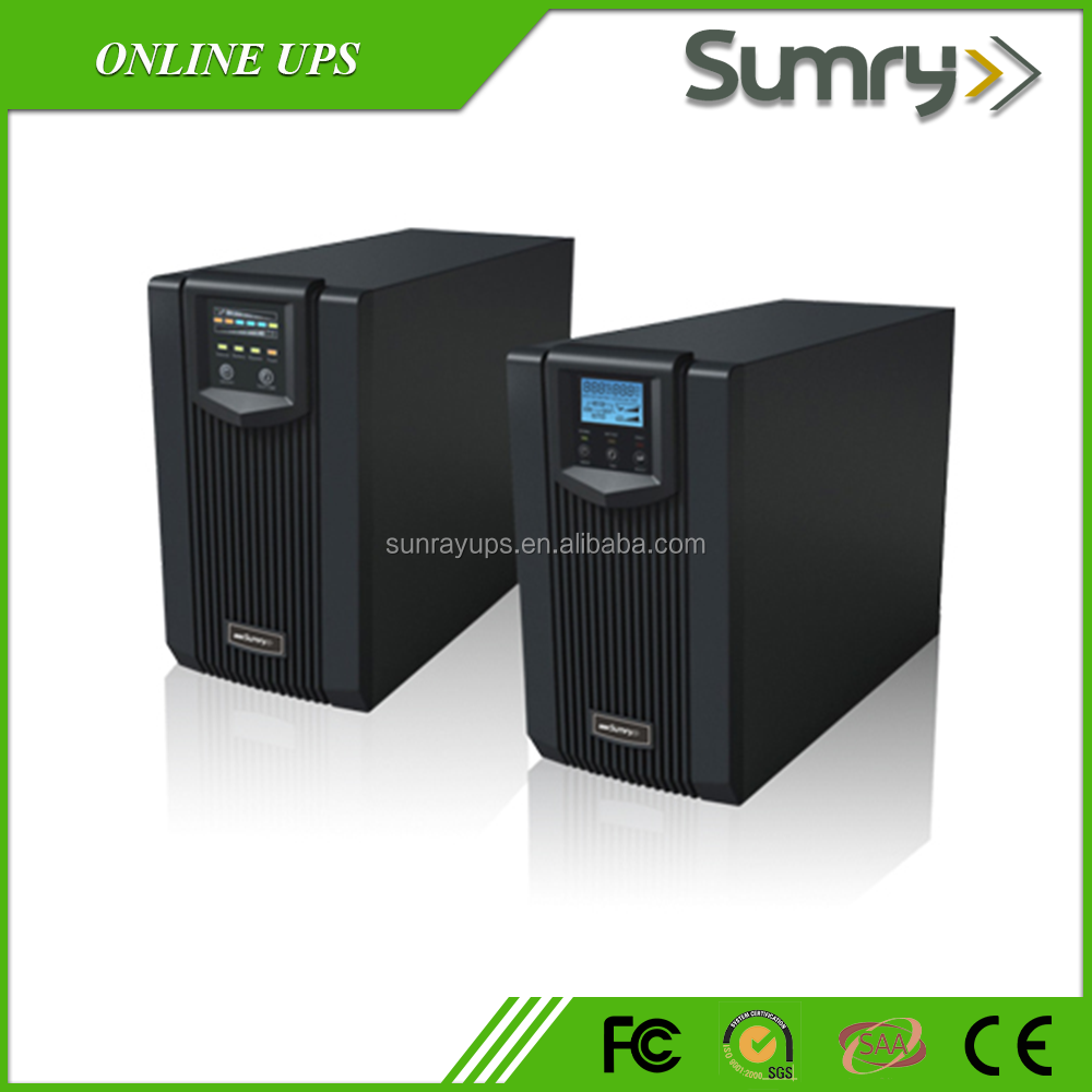 Pure sine wave online ups uninterruptible power supply 3kva with internal batteries
