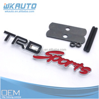 black TRD auto accessory for tuning car grill badges