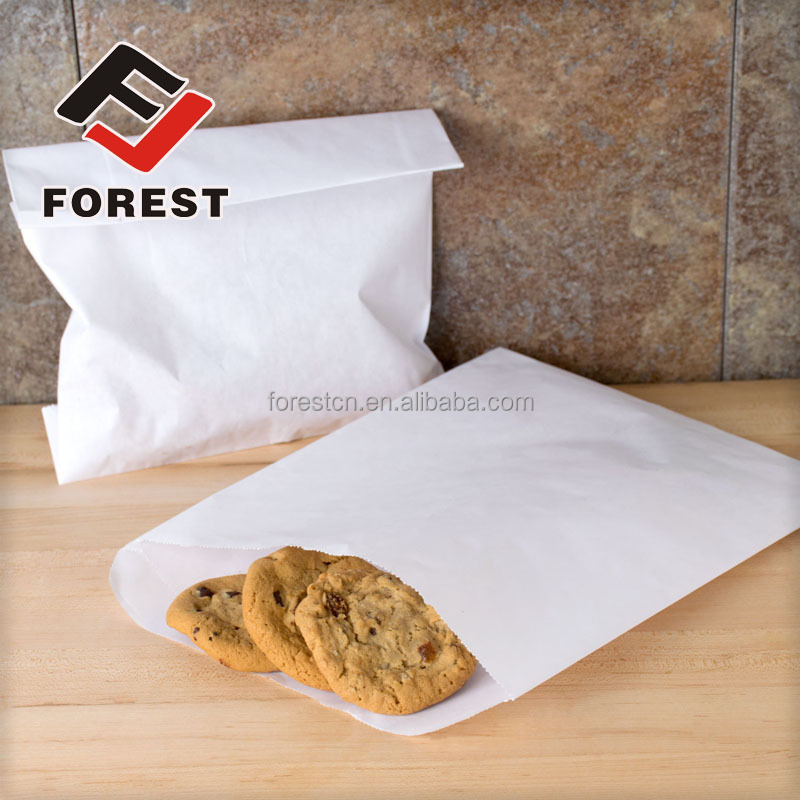 Wholesale Flat bottom food packaging bag, kraft paper bag, food grade paper bag