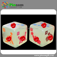 Manufacturing Acrylic glowing sexy dice game dice