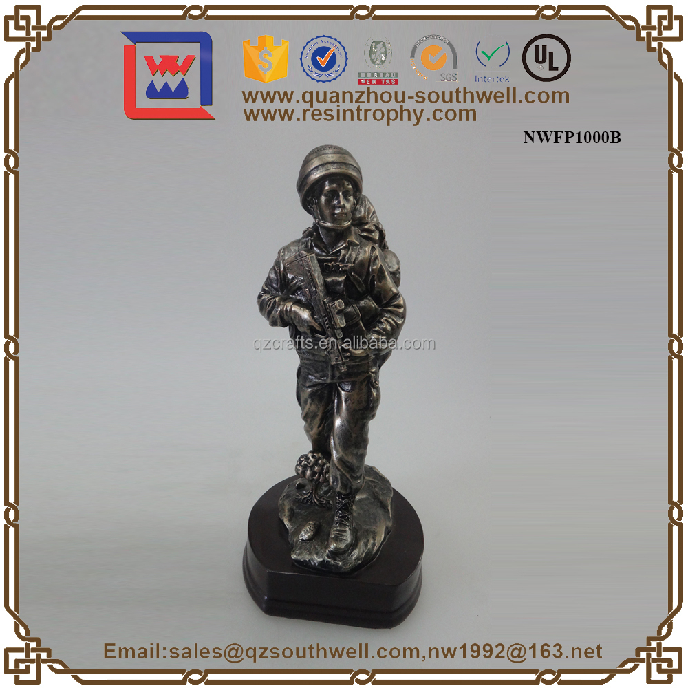 Decorative Wholesale Resin Brass Figurine Custom Solider Figurine