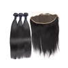 Aliexpress Hair Weave Human Straight Curly Hair 3 Bundles With 13x4 Frontal Closure