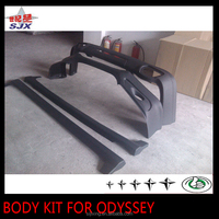 Body kit for odyssey 2010-2012 include front bumper/rear lip/side skirts auto exterior decoration