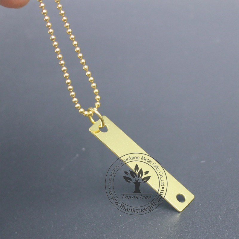 china wholesale gold rectangle logo custom engraved jewelry tags