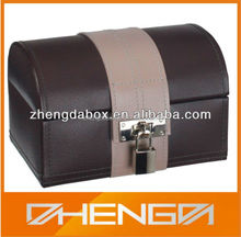 High Quality Customized Made-In-China Leather Wine Gift Box(ZDL13-004)