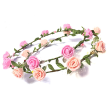 Handmade fashion PE flower bridal wreath for wedding hair accessories decoration