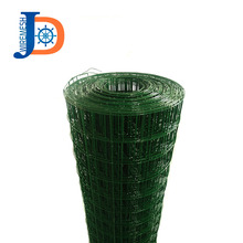 Green color 1/2 inch PVC plastic coated welded wire mesh used as fencing