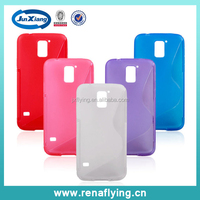 China Manufacture Color Transparent TPU Case for Samsung S5