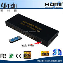 1.4v HDMI 4K Matrix Switch 4 in 2 out with ARC Audio Return and Toslink and 3.5mm Audio Output