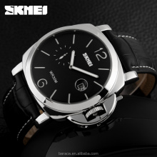 skmei watch stainless steel back stop watch calender safety catch watch