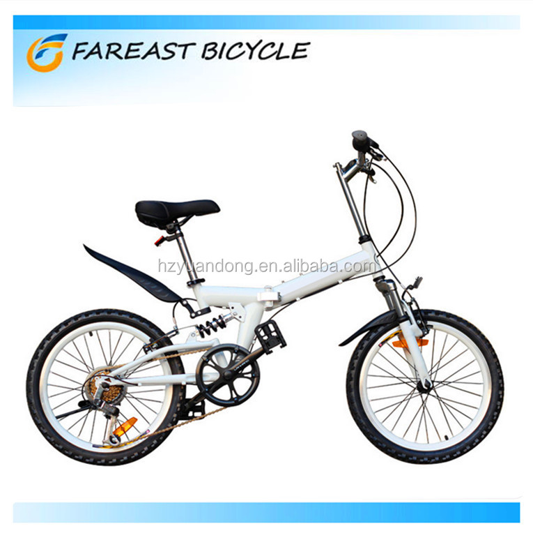 2015 new wholesale 20-inch high-carbon steel white mountain bicycle folding bike 6 speed made in china factory