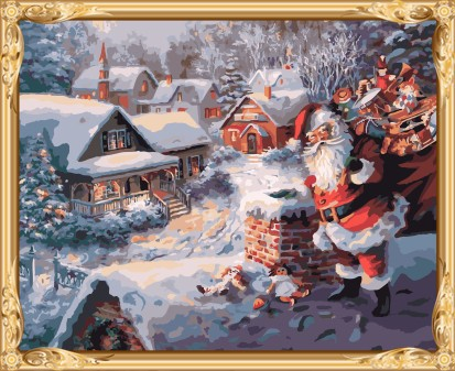 GX7430 christmas gift set diy oil painting by numbers