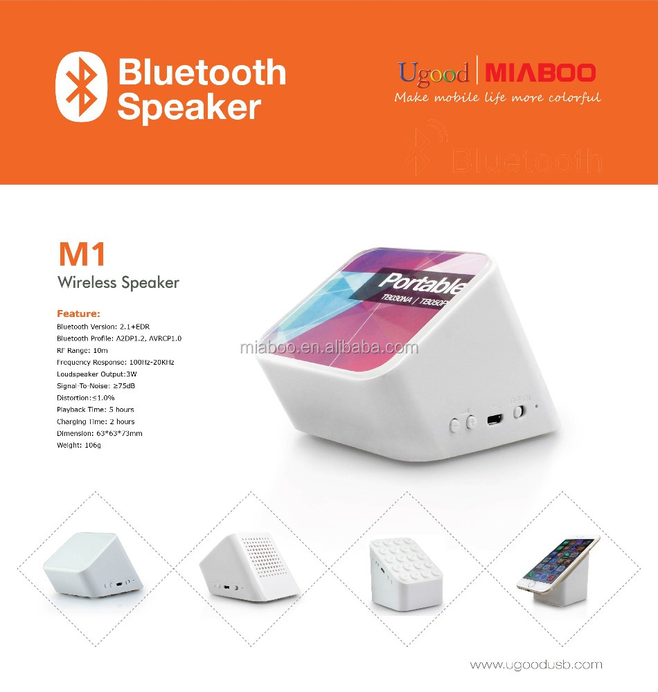 Promotional gadget! best selling bluetooth speaker 2016, Super Bass high quality 2 in 1 mini speaker for smartphone