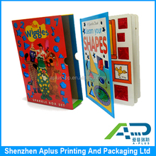 2015 new design hardcover children book printing custom packaging box for gifts