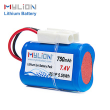rechargeable li ion battery 14500 7.4V 750mah 14500