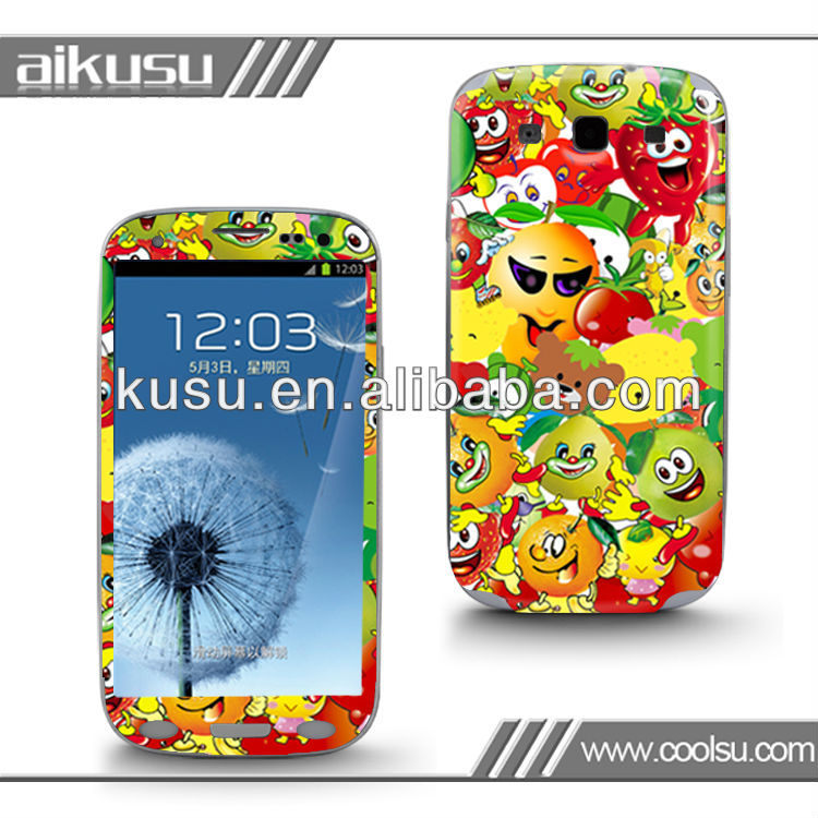 Free sample!! for samsung galaxy skin sticker galaxy s3 s2 with 3M material