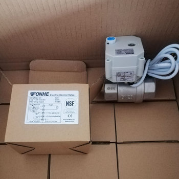DN25 NSF61 CR502 normally closed stainless steel motorized electric ball valve 12v
