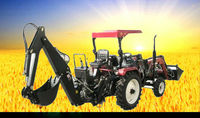 HOT SALE!!! Mini farm tractor with front end loader and backhoe made in China