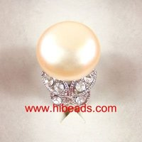 14-15mm pink freshwater pearl rings FPR0023