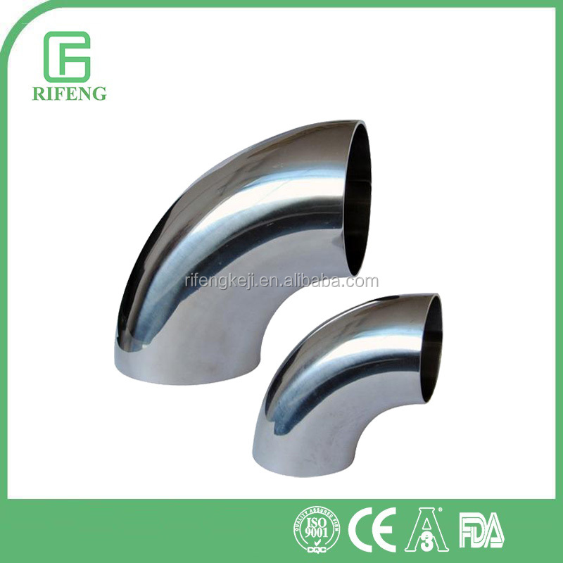 Stainless Steel Polished Sanitary Welding Elbow 90 Deg.