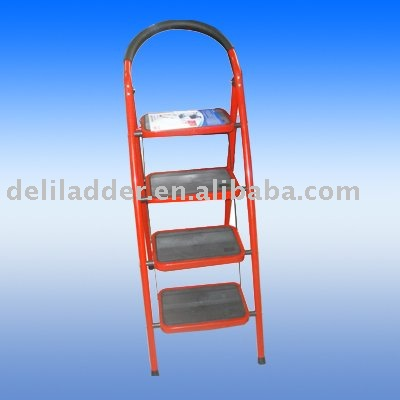 4 step steel ladder with certificate made in China