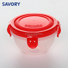 Alibaba China plastic food steamer lunch box design cylindrical food container