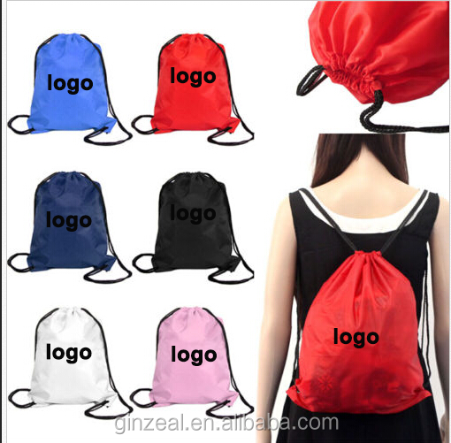 SGS China Manufacturer Polyester Printed Large Drawstring Bags