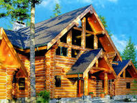 family log wooden house