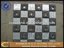 3d aluminum mosaic , glass pebble mosaic tile , crystal glass mosaic black