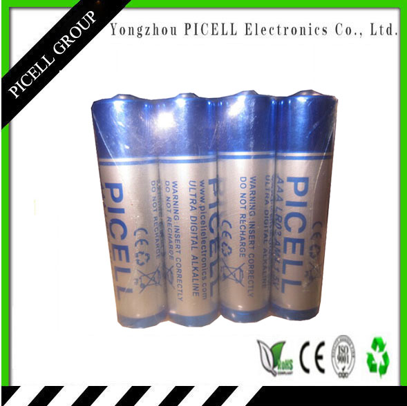 1.5V Nominal Voltage and Alkaline Battery Type LR03 AAA 1.5V Alkaline battery (Ultra Max)/4pcs Card