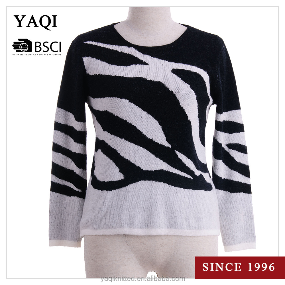 Custom Knitted Sweater Casual Randomize Pattern Pullover Women Knitwear