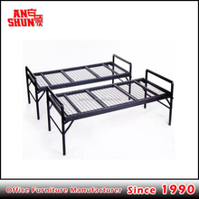 CAS-086 modern divisible wrought iron steel single bed frame for hotel
