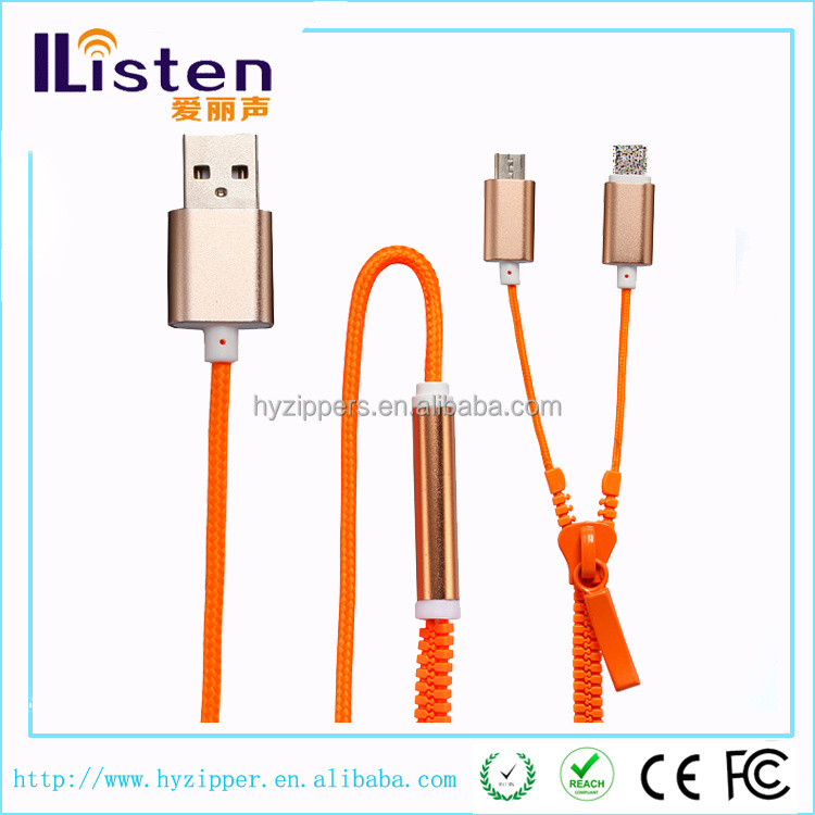 super speed red zipper usb cable accept paypal