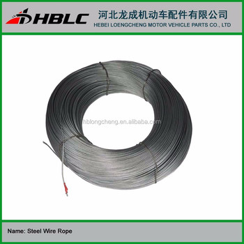 7*7 1*19 stainless steel wire rope galvanized steel cable