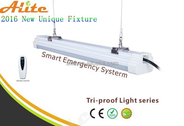 Led linear light fixture 40W Indoor ceiling surface mounted LED Batten light tube/ flat led