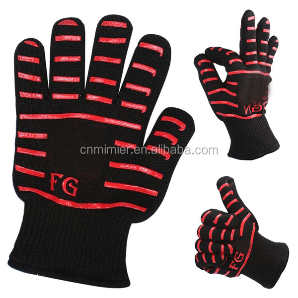 Silicone 932F Heat Resistant Cooking Oven Gloves,Free Sample